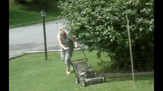 "Allegedly ""disabled"" Woman, Mowing Yet Again!!!"