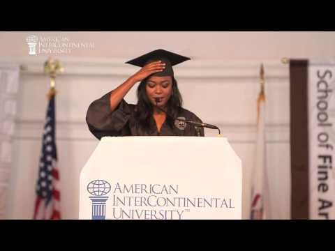 Tatyana Ali: AIU 2014 Graduation Keynote Speaker - YouTube