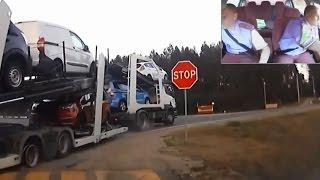 Crazy Pursuit of Drunk Truck Driver