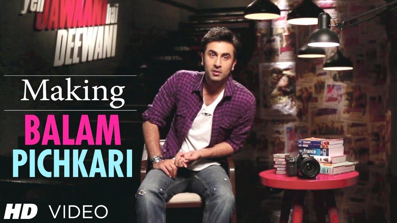 Balam Pichkari Song Making Yeh Jawaani Hai Deewani ...