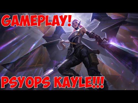 PsyOps Kayle Gameplay | new Kayle skin + buffs on PBE! | kayle 1v9