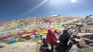 heading to the top of the droma la pass on mt kailash taken with head mounted gopro