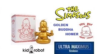 The Simpsons Golden Buddha Homer Kidrobot