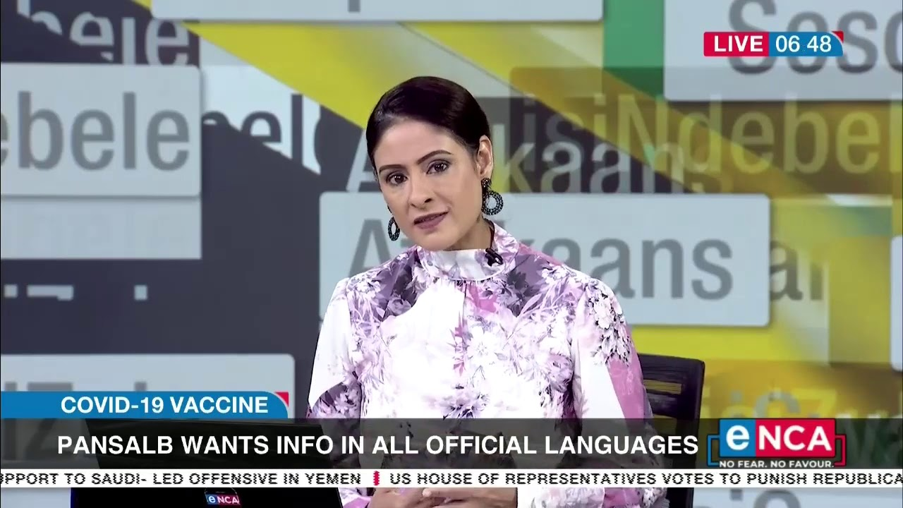 Language Board wants COVID-19 vaccine information made available in all official languages - eNCA