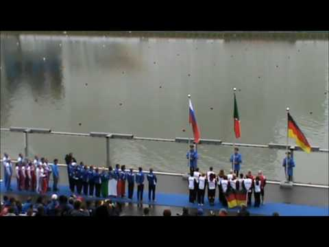 Anthem ceremony Dragon Boat Moscow 2016 - Italy - 1st place