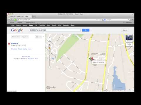 Finding GPS coordinates with google maps.