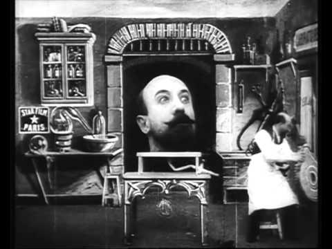 GEORGES MÉLIÈS : L'Homme à la tête en caoutchouc (1901) LES CHEVALS & LAWRENCE LEHERISSEY (2013)