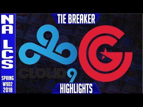 C9 vs CG TIE BREAKER Highlights | NA LCS Week 9 Spring 2018 W9D2 | Cloud 9 vs Clutch Gaming