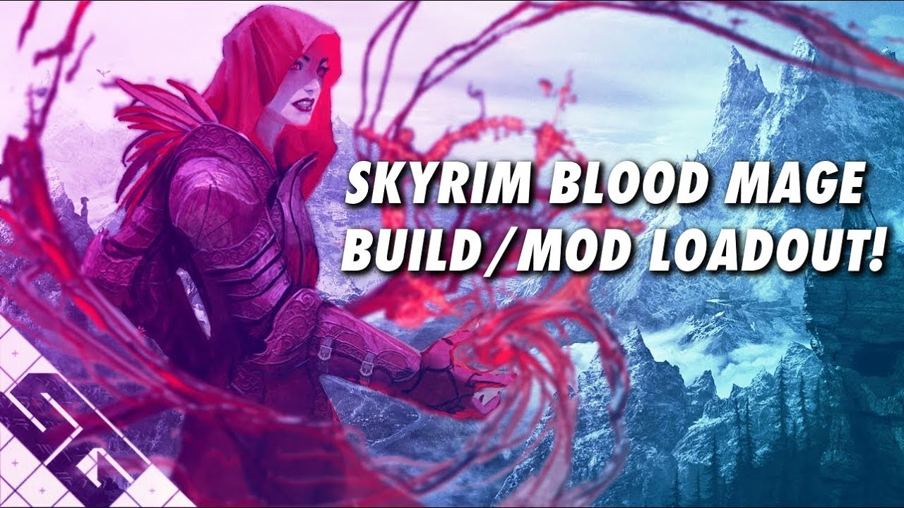 Skyrim Blood Mage Build! Mod List! PS4!