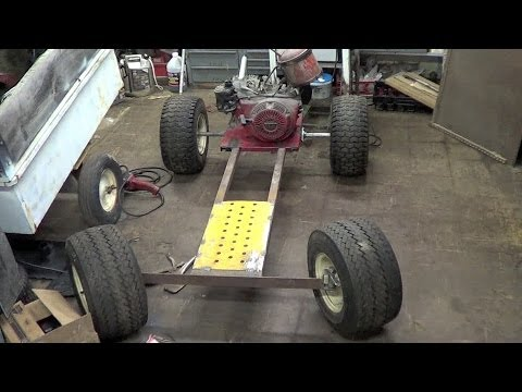 Homemade shifter kart floor/seat install - YouTube