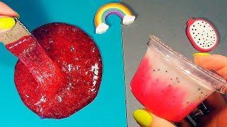 ТОП 2 ЛИЗУНА как жидкие фрукты • СЛАЙМЫ в виде еды • Драгон фрут и клубничный ЛИЗУН