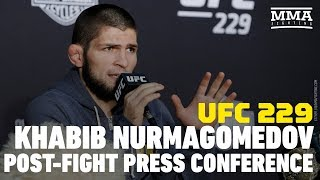 UFC 229: Khabib Nurmagomedov Post-Fight Press Conference - MMA Fighting