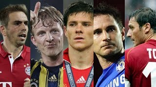 Legends who retired in 2017 • totti / lahm / lampard / alonso / kuyt