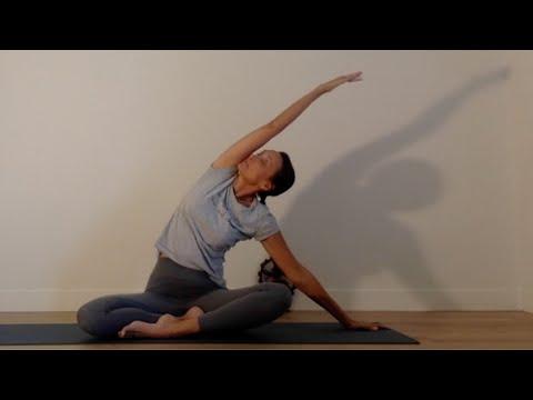 Séance de Yoga Hatha<br>par Laurence Merchet<br>Durée : 57 minutes