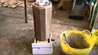 New rocket stove mass heater cast riser Part 1