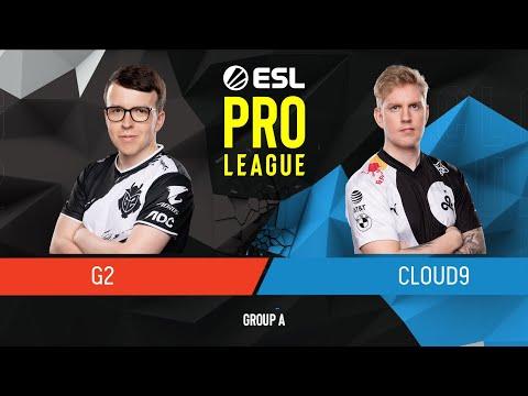CS:GO - Cloud9 Vs. G2 Esports [Overpass] Map 2 - Group A - ESL Pro League Season 9