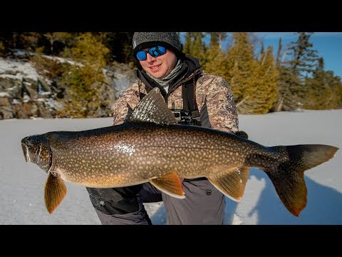 LAKE TROUT ON ICE TIPS & TRICKS || Won't Believe How I Caught One|| (NEW PB)