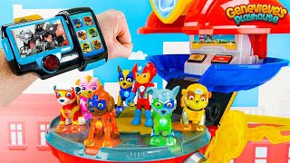 Paw Patrol Toy Learning Video for Kids - Mighty Pups vs Battle Robot!