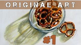 Original Art #1: Bowl of Pretzels
