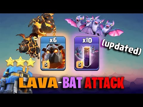 TH12 LAVABAT ATTACK STRATEGY 2019 (Updated) 6 Lava + 10 Bat Spell + 28 Max Balloon | Clash of Clan