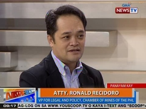 NTG: Panayam kay Atty. Ronald Recidoro, VP for Legal and Policy, Chamber of Mines of the PHL