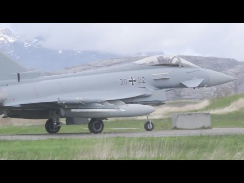 Arctic Challenge Fighter Jet Exercise in Norway (HD)