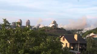 Обстрел Донецка 26.08.2014