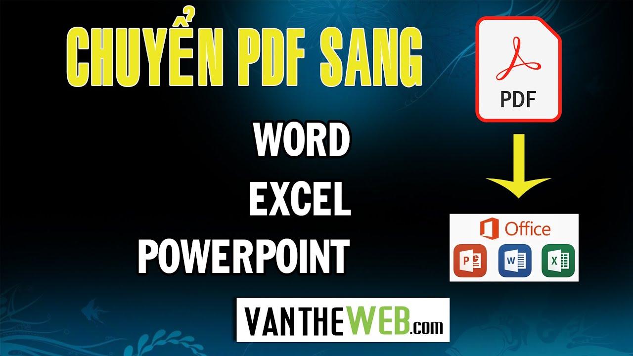 Hướng Dẫn Chuyển Đổi PDF Sang Word, Excel, PowerPoint Nhanh Chóng Với Smallpdf và NitroPD