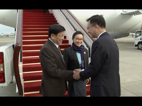 Lao PM, Presidents of Kenya, Lithuania Arrive in Shanghai for Import Expo