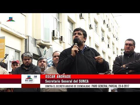PIT-CNT Paro General Oscar Andrade SUNCA 23-8-2017