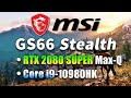 MSI GS66 Stealth 10SGS-441 youtube review thumbnail