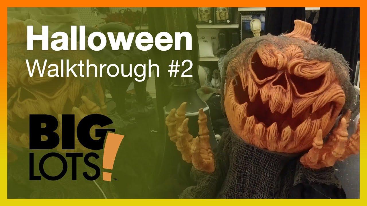 Big Lots Halloween Decorations 2019.Big Lots Halloween Walkthrough 2 Decorations Decor Store Merchandise Animatronics Testing
