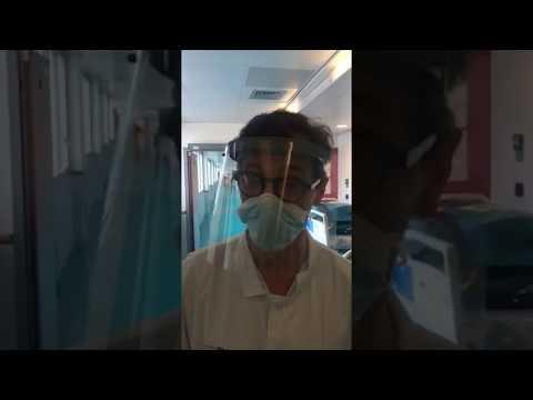 Visière protection: témoignage d'un soignant du service anesthésie réanimation de l'hôpital Pompidou