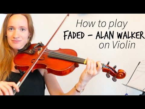 Faded  - Alan Walker (how to play) | Easy violin tutorial