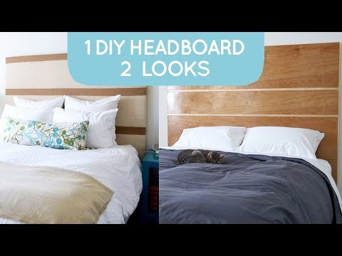 DIY headboard: works with any bed frame and is easy to build | Bedroom Decor Ideas