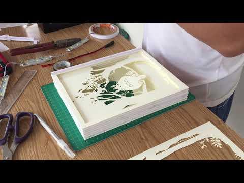 DIY paper cut - How to make Light Box - TOTORO - Paper Cutting Lightbox