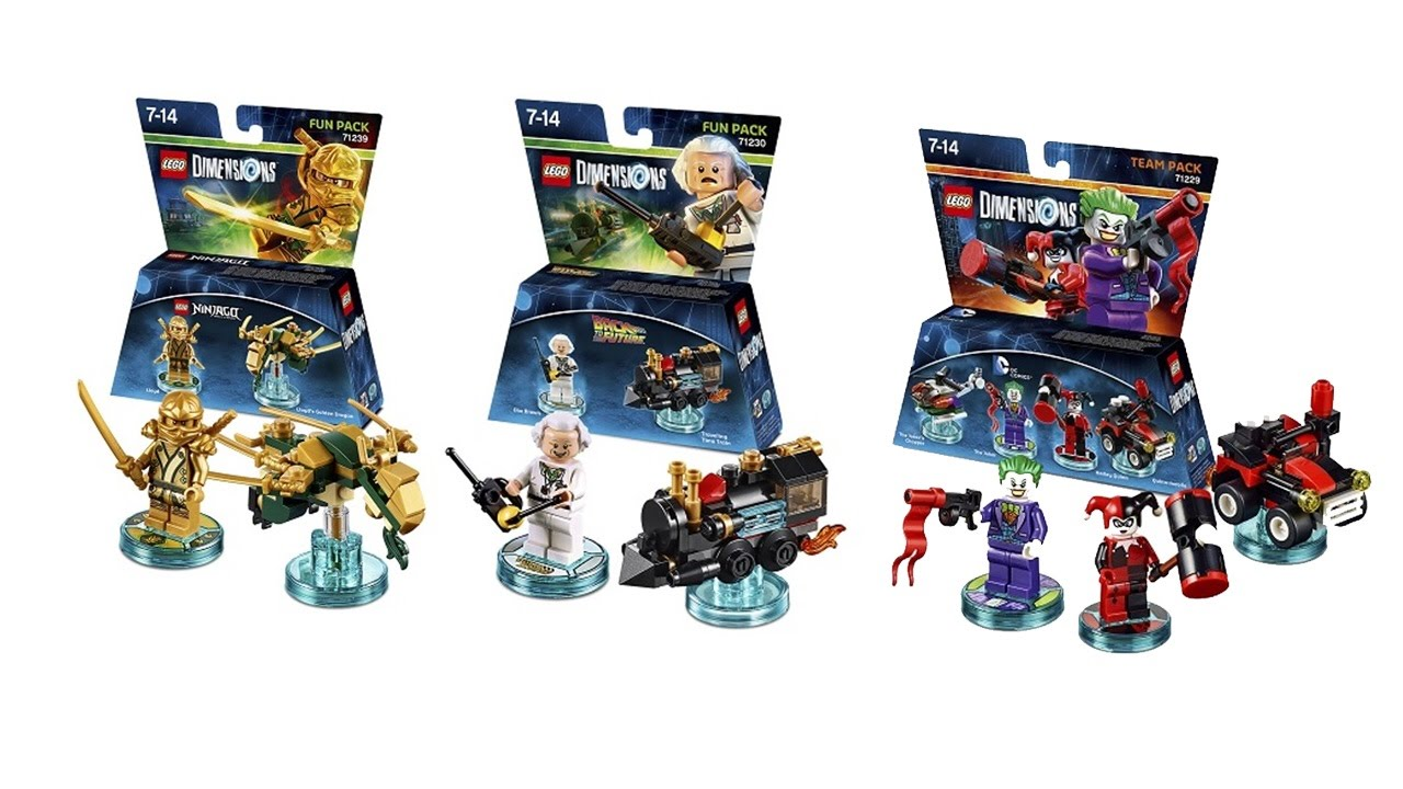 More LEGO Dimensions Sets Doc Brown Gold Ninja DC And