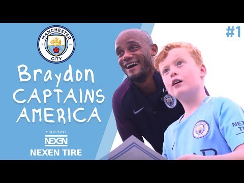 Braydon Captains America | Episode 1 - Vincent Kompany has a big surprise for Braydon!