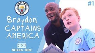 Braydon Captains America | Episode 1 - Vincent Kompany has a big surprise for Braydon!