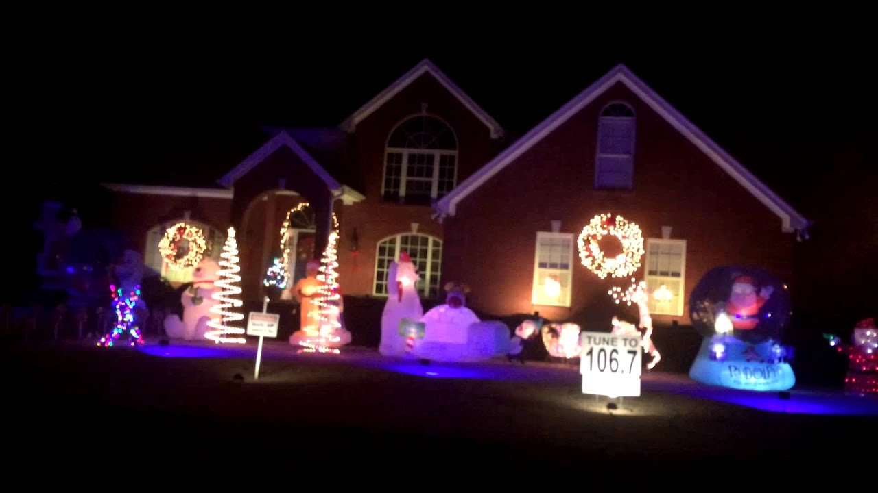 amazing christmas lights set to music part 1