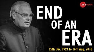 Atal Bihari Vajpayee's mortal remains kept at his official residence for his last sight