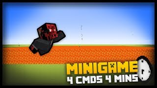 How to code THE FLOOR IS LAVA Minecraft Minigame with only 4 command blocks in 4 minutes!