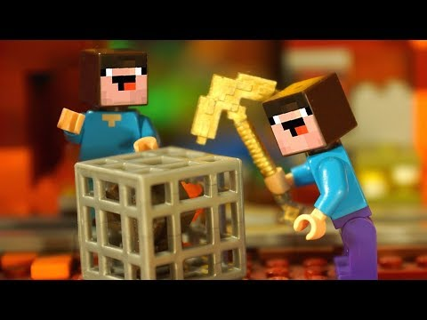Wellcome to HELL - LEGO Minecraft Noobik - Stop Motion Animation