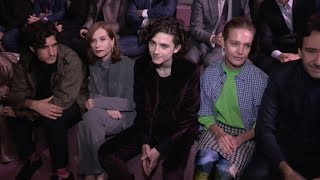 Isabelle Huppert, Timothee Chalamet and more at Berluti Menswear Fall Winter 2018 Fashion Show