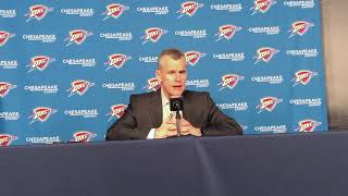 Thunder vs Raptors - Billy Donovan