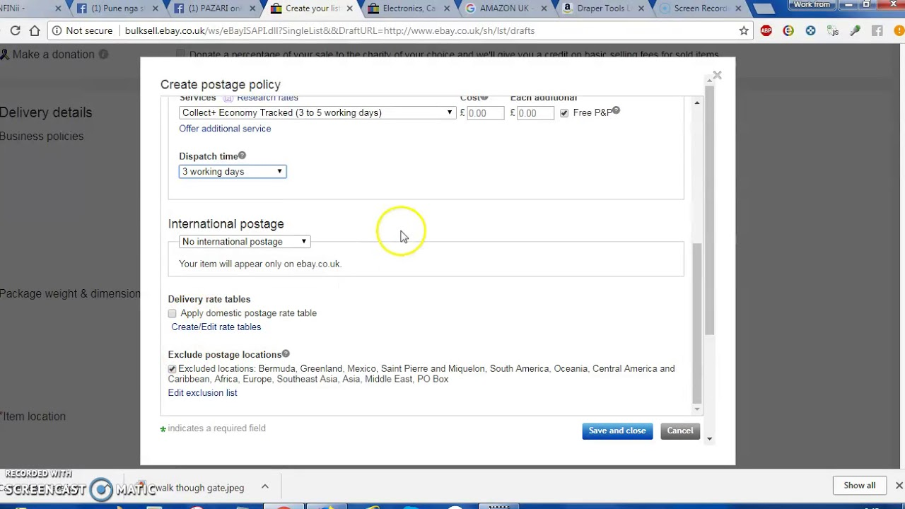 Si Te Rregullojme Bisness Policies Ne Ebay Co Uk Youtube