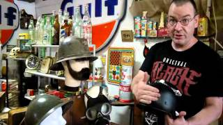 WWII German Infantry Helmet and Gas Mask for sale