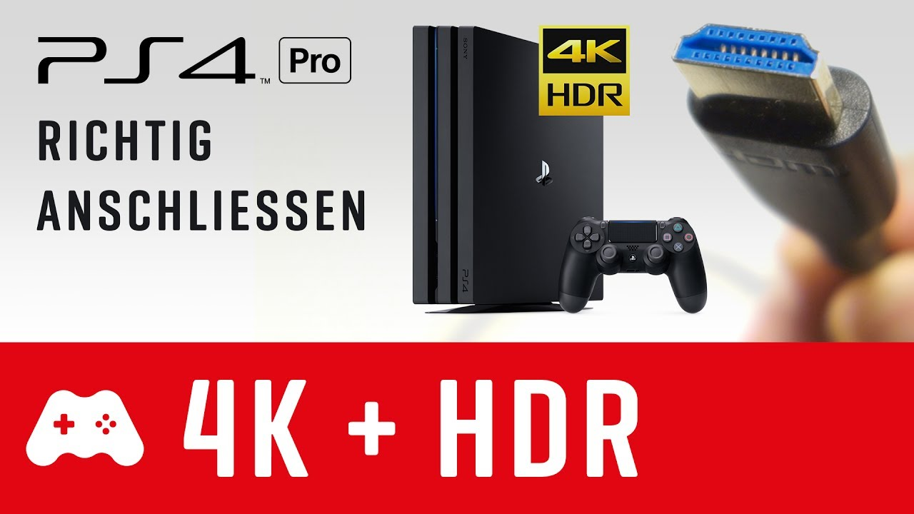 ps4 pro richtig anschlie en und einstellen 4k hdr. Black Bedroom Furniture Sets. Home Design Ideas