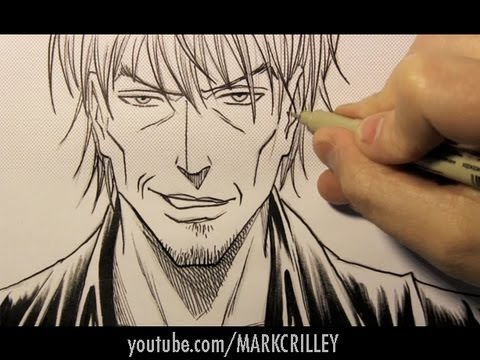 Drawing time lapse bad guy manga style youtube