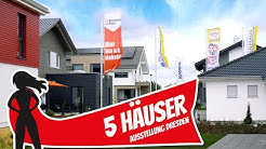 Top 5 FERTIGHÄUSER im MUSTERHAUSPARK Ottendorf-Okrilla bei Dresden   Hausbau Helden